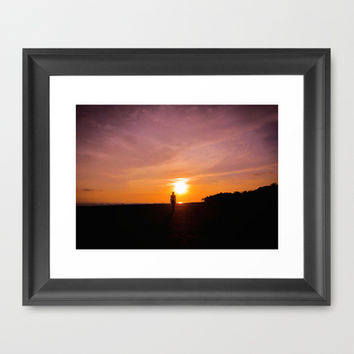 Sunset Walk Framed Art Print by Nicklas Gustafsson