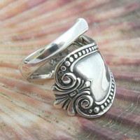 Sterling Silver Spoon Ring, Petite Spoon Ring, Spoon Jewelry