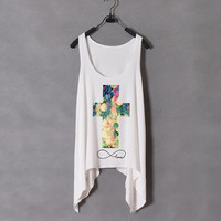infinite love rosary cross-the tank-white
