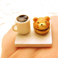 Kawaii Food Coffee Ring Cream Puff by SouZouCreations on Etsy