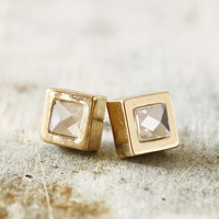 Gold & Ice Earrings, Sweet Affordable Jewelry