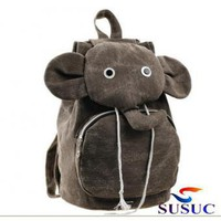 Canvas Elephant Cartoon Design Leisure Backpack