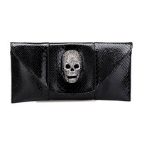 Envelope Shape Purse With Skull Hea.. on Luulla