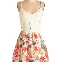 ModCloth Mid-length Spaghetti Straps A-line Calling All Wildflowers Dress