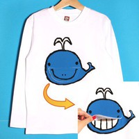 smilekids   Cute Whale Boys Animal Graphic Cotton Tee in White for Ages 1 to 7 years   Online Store Powered by Storenvy
