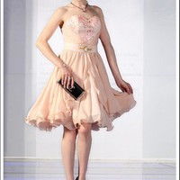 Pink Cocktail dress party Dress latest elegant beaded strapless | mydresses - Wedding on ArtFire
