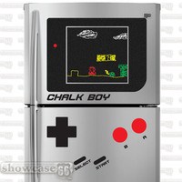 Retro Chalkboard Chalk Boy (Game Boy)  - Vinyl Wall Art - FREE Shipping - Fun Vintage Game Organizing Blackboard Wall Decal