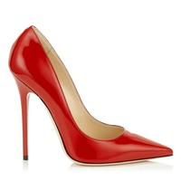 Red Patent Pointy Toe Pumps | Anouk | JIMMY CHOO Shoes