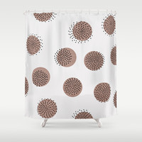 Dots over Dots Shower Curtain by Georgiana Paraschiv
