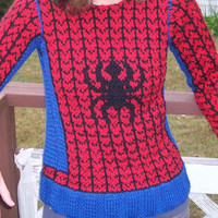 Handmade/Custom Superhero Inspired  Sweater by BlackKat009 on Etsy