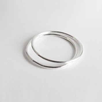 Smooth Finished Sterling Silver Stacking Ring 1,3 mm