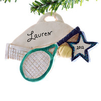Tennis Christmas ornament - personalized tennis ornament - tennis player Christmas ornament - sports ornament