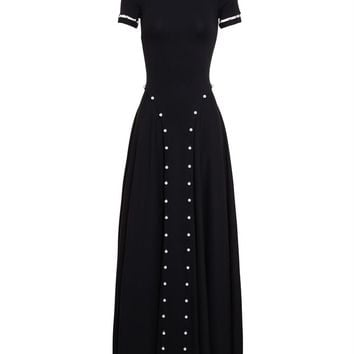 Heavy Jersey Dress with Pearl Embellishment - ADAM SELMAN