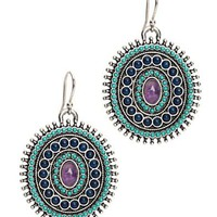 Turquiose Drop Disk Earrings - Accessories - Lucky Brand Jeans