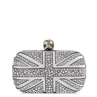 Studded Union Jack clutch | Alexander McQueen | Matchesfashion...