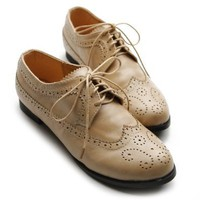 Amazon.com: Ollio Womens Oxfords Lace Ups Low Heels Wingtip Dress Multi Colored Shoes: Shoes