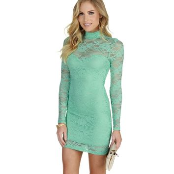 Mint Showtime Lace Dress