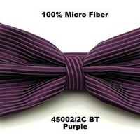 Men's Solid Purple Woven Striped Bow Tie  on eBay!
