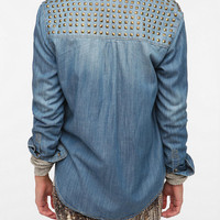 BDG Studded Denim Button-Down Shirt