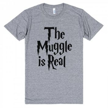 Muggle is Real-Unisex Athletic Grey T-Shirt
