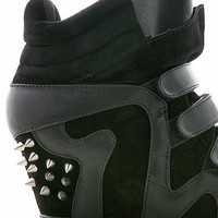 Spiked Wedge Sneaker | Trendy Shoes at Pink Ice