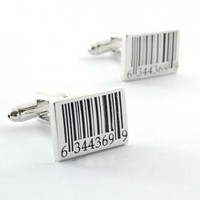Rectangle Barcode Personalised Cufflinks One Pair For Pair