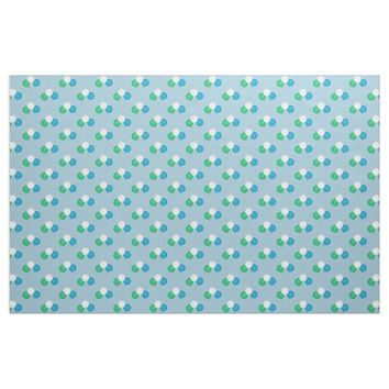 Blue Green And White Balloon Bouquet Fabric 2