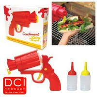 CONDIMENT GUN Picnic Party Great for BBQ sauce Ketchup or Mustard: Amazon.com: Kitchen & Dining