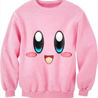 ISWAG men/women sexy 3D print cc sweat shirt kirby cartoon sweater jumper couples love pink cute smile sportswear varsity jacket-in Hoodies & Sweatshirts from Women's Clothing & Accessories on Aliexpress.com | Alibaba Group
