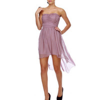 Adagio Strapless Purple Dress $55.00