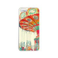 Iphone 5 case. Iphone Case. Carnival. Swing. Bright. Colorful. Red. Orange. Blue. Yellow. Dreamy. Cute. photo. Santa Cruz. Vibrant.