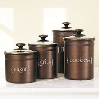 Canister Decals by ExpressionsWallArt on Etsy