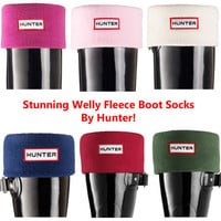 Hunter Womens Mens Unisex Fleece Warm Wellingtons Welly Boots Socks Size 3-11 UK