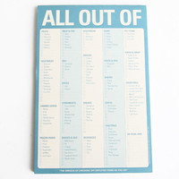 all out of grocery list pad - $7.99 : ShopRuche.com, Vintage Inspired Clothing, Affordable Clothes, Eco friendly Fashion