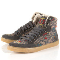 TEEPEE Grey Fur-lined Hi-Tops - New In This Week  - New In