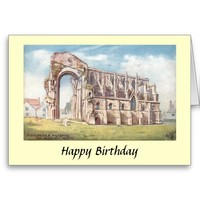 Birthday Card - Malmesbury Abbey, Wiltshire