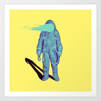 This is just a simple astronaut  Art Print by Slimesunday