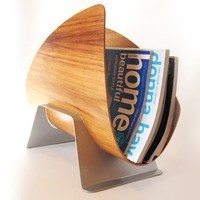 Handmade 'Bent Ply' newpaper/magazine rack  by svelteobjects