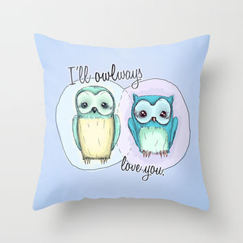 owls Throw Pillow by Techjulie