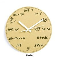 Math and Science Pop Quiz Wall Clock  by Julyjoy