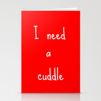 I need a cuddle! Stationery Cards by agnes Trachet | Society6
