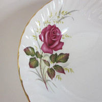 "Anniversary Rose 9"" Serving Bowl by Ridgway England Gold trim Vegetable Bowl"