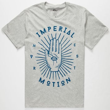 Imperial Motion Palm Reader Mens T-Shirt Heather Grey  In Sizes