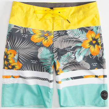 Rip Curl Aggrofloral Boys Boardshorts Teal Blue  In Sizes