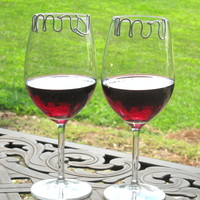 Mr and Mrs Toasting Glass Charms