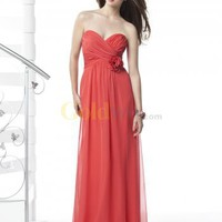 [US$186.93] Sweetheart Empire Waist Floor Length Chiffon Maxi Bridesmaid Dress