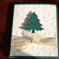 Christmas Cards - Elegant Trees Set of 4