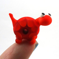 Orange and Red Turtle Lampworked Glass Figurine by MercuryGlass
