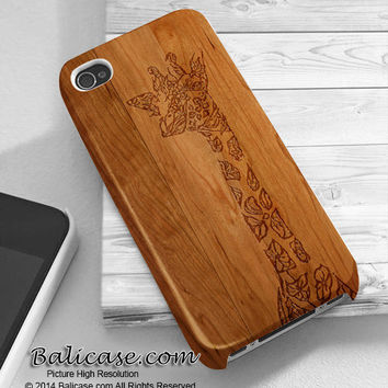 Floral giraffe wood iphone 4/4s/5/5c/5s case, Floral giraffe wood samsung galaxy s3/s4/s5, Floral giraffe wood samsung galaxy s3 mini/s4 mini, Floral giraffe wood samsung galaxy note 2/3