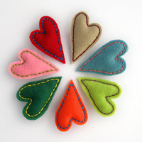 Felt heart brooch - your choice of color